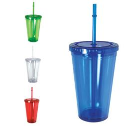 100% BPA Free Cup Bottle With Straw Double Wall Screw on Lid