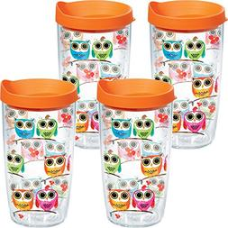 Tervis 1097712 Owls & Birds Bark Tumbler with Wrap and Orang