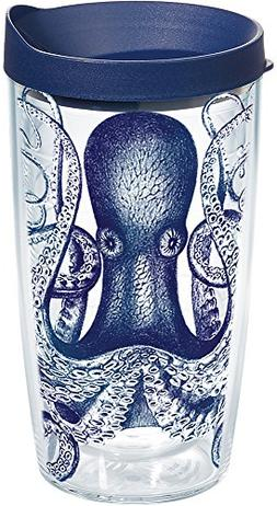 Tervis 1145811 Octopus Tumbler with Wrap and Navy Lid 16oz,
