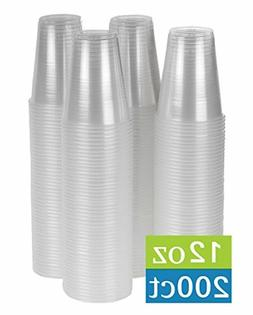 12 oz clear plastic cups 200 count