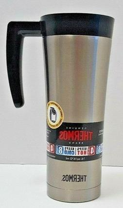 Thermos 16 Ounce Vacuum Insulated Travel Mug Stainless Steel