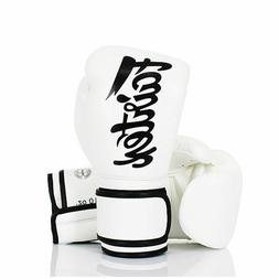 16 OZ FAIRTEX BGV14 WHITE GLOVES MUAY THAI TRAINING SPARRING