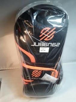 16 oz Sanabul Essential GEL Boxing Kick Training Gloves Blac