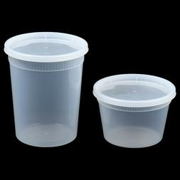 16 oz or 32 oz Heavy Duty Plastic Deli/Soup Containers with
