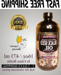 16 oz Organic 100% Pure Black Seed Oil Cold Pressed Cumin Ni