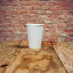 16 oz Paper Coffee Cups - White Hot Drink Disposable Cups -
