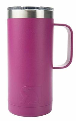 RTIC 16 Oz Stainless Steel / Very Berry Travel Coffee Cup Va