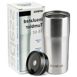 16 OZ Travel Tumbler Stainless steel Silver Insulated Cup Do