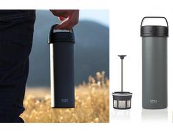 16 Oz Espro Ultralight Travel Coffee French Press - Charcoal