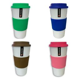16oz G Force Double Wall Insulated Travel Mug Coffee Cup Wit