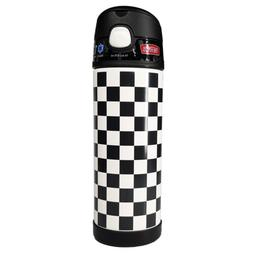 16oz funtainer water bottle black and white