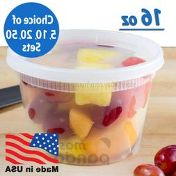 16oz Heavy Duty Medium Round Deli Food/Soup Plastic Containe