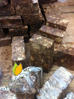 1lb Pure Natural Raw African Black Soap from Ghana - 16oz Ha