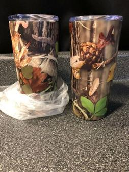 2X Camo 16 oz Insulated Stainless Tumblers with Lid Travel T