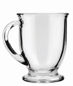 Anchor Hocking Café Glass Coffee Mugs, 16 oz