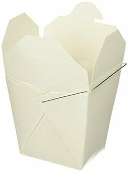 Chinese Take Out Food Boxes: 16 oz.  Lot Of 50 - White