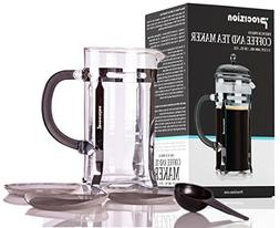 French Press Coffee Maker - 20 oz  Espresso and Tea Maker wi