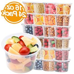 Glotoch Deli Soup Containers with Lids, 16 oz. Leakproof - P