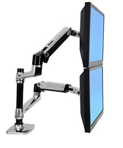 Halter Dual LCD Adjustable Monitor Stand, Dual Stacking Arm,