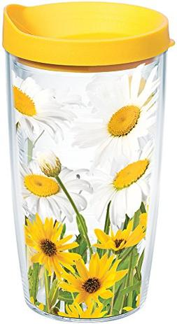 Tervis 1139276 White Daisies Tumbler with Wrap and Yellow Li
