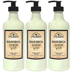 Village Naturals Therapy Muscle Relief Natural Lotion 16 Fl