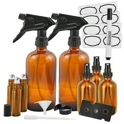 amber glass bottles trigger sprayers