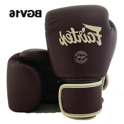 FAIRTEX BGV16 MAROON COLOR MUAY THAI KICK BOXING GLOVES MMA