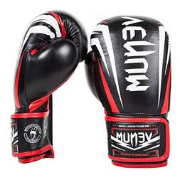 "Venum ""Sharp"" Boxing Gloves Nappa Leather, Black/Ice/Red, 16"