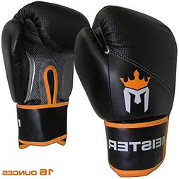 Meister Pro Boxing Gloves w/ Wrist Support  - 16 Ounce, Adul