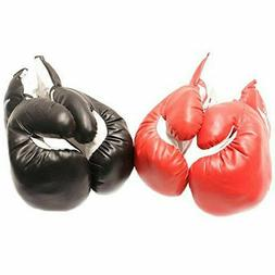 2 PAIRS 16 OZ BOXING PRACTICE TRAINING GLOVES Sparring Faux