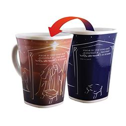 Color Changing Mug - Nativity Story - Large 16 Ounce - Porce