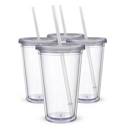 Double-layer Acrylic2/package Straw Kettle Transparent Cup,
