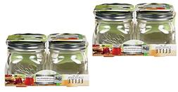 Collection Elite  Pint Jars - Wide Mouth - Set of 8