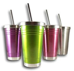 Colorful 16 Oz Stainless Steel Double Walled Insulated Tumbl