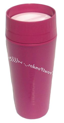 Tupperware Commuter Mug Travel Cup 16 oz in Purple and Pink