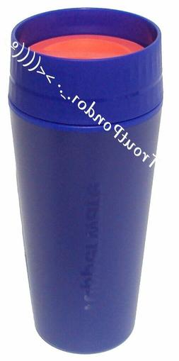 Tupperware Commuter Mug Travel Cup 16 oz in Blue and Orange