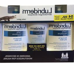 Lubriderm Daily Moisture Lotion Value Pack 2/24oz + 1/6oz =