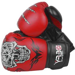 DEFY®  Boxing Gloves Leather Punch Training Sparring MMA Fi