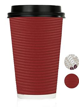Disposable Hot Coffee Insulated Cups By Golden Spoon – 50