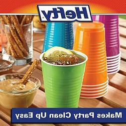 Hefty Disposable Plastic Cups in Assorted - 4 Colors 16 Oz 1