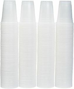 AmazonBasics 16oz Disposable Plastic Cups - 240-Pack, Transl