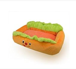 Melife Hot Dog Design Dog Bed with Removable and Washable Pe