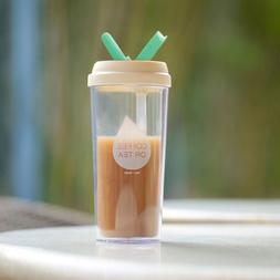 Double Layer plastic Water Bottle Juicer <font><b>Coffee</b>