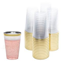 DRINKET Gold Plastic Cups 14 oz Clear Plastic Cups / Tumbler