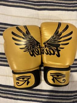 falcon limited edition boxing gloves gold 16oz