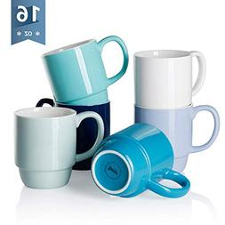 【Flash Deal】Sweese 6220 Porcelain Stackable Mug Set - 16