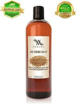 Flax Seed Oil 16 oz UNREFINED ORGANIC Cold Pressed 100% PURE