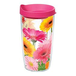 Tervis GEDA-S-16-WRA Gerber Daisies 16 Oz Tumbler with Lid -