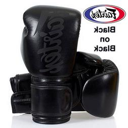 FAIRTEX GLOVES BGV14SB BLACK ON BLACK MUAY THAI KICK BOXING