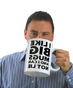 BigMouth Inc. I Like Big Mugs... Gigantic Coffee Mug, Funny